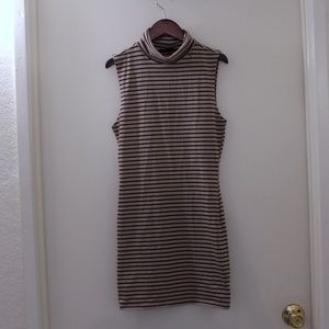 Forever21 Striped Turtle Neck Dress